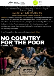 No country for the poor | Film screening and discussion