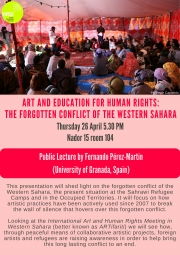 Art and Education for Human Rights: The forgotten conflict of the Western Sahara