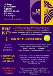 16 days of campaigning against Gender Based Violence
