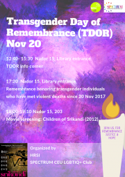 Transgender Day of Remembrance Events